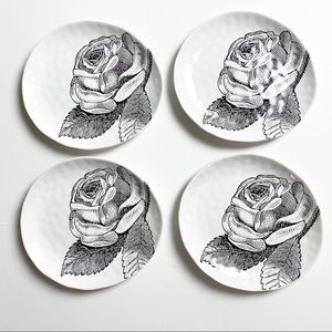 Adorn Magpie Stoneware Vegan rose trinket tray set